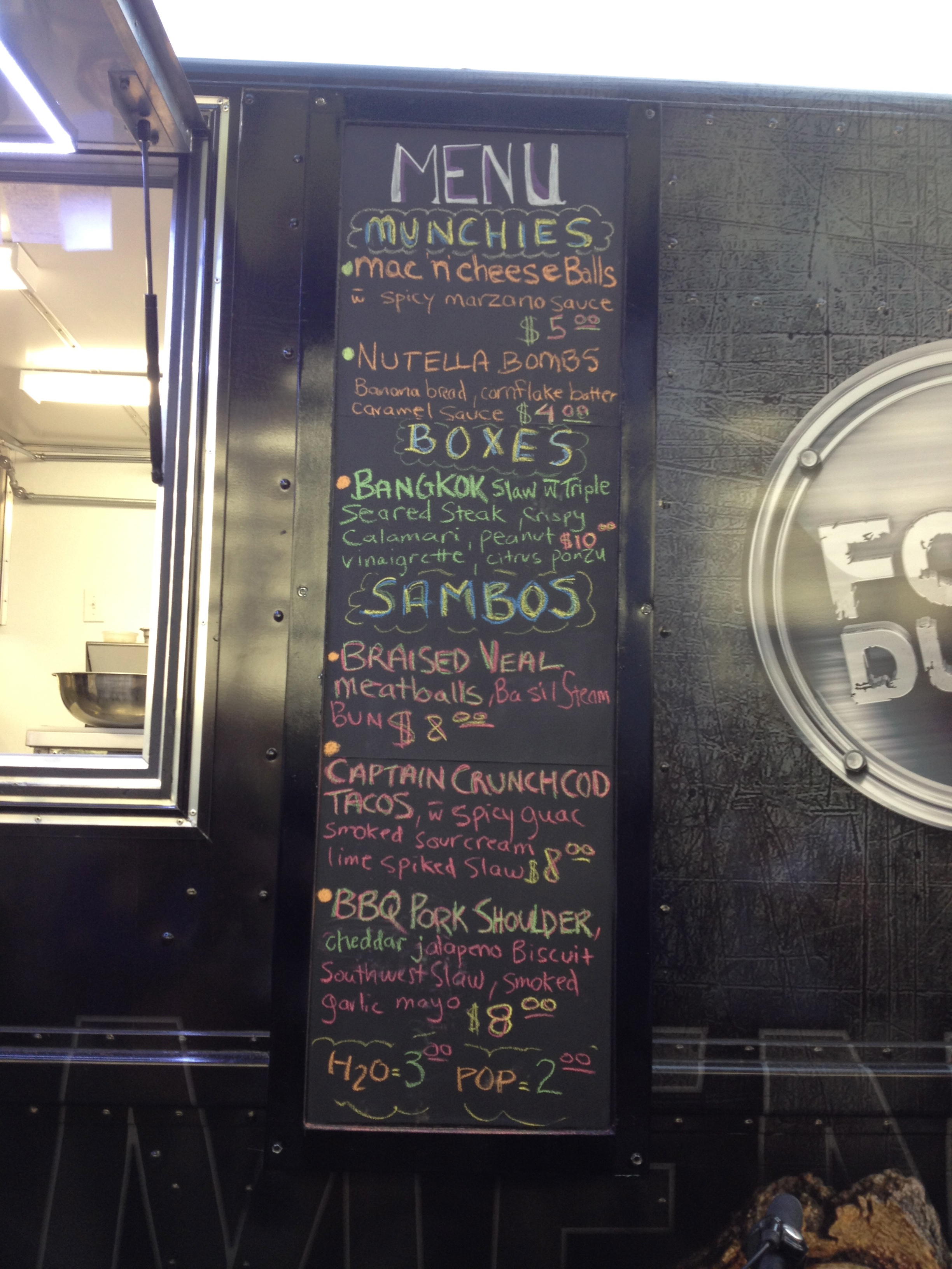 Food Dudes Menu