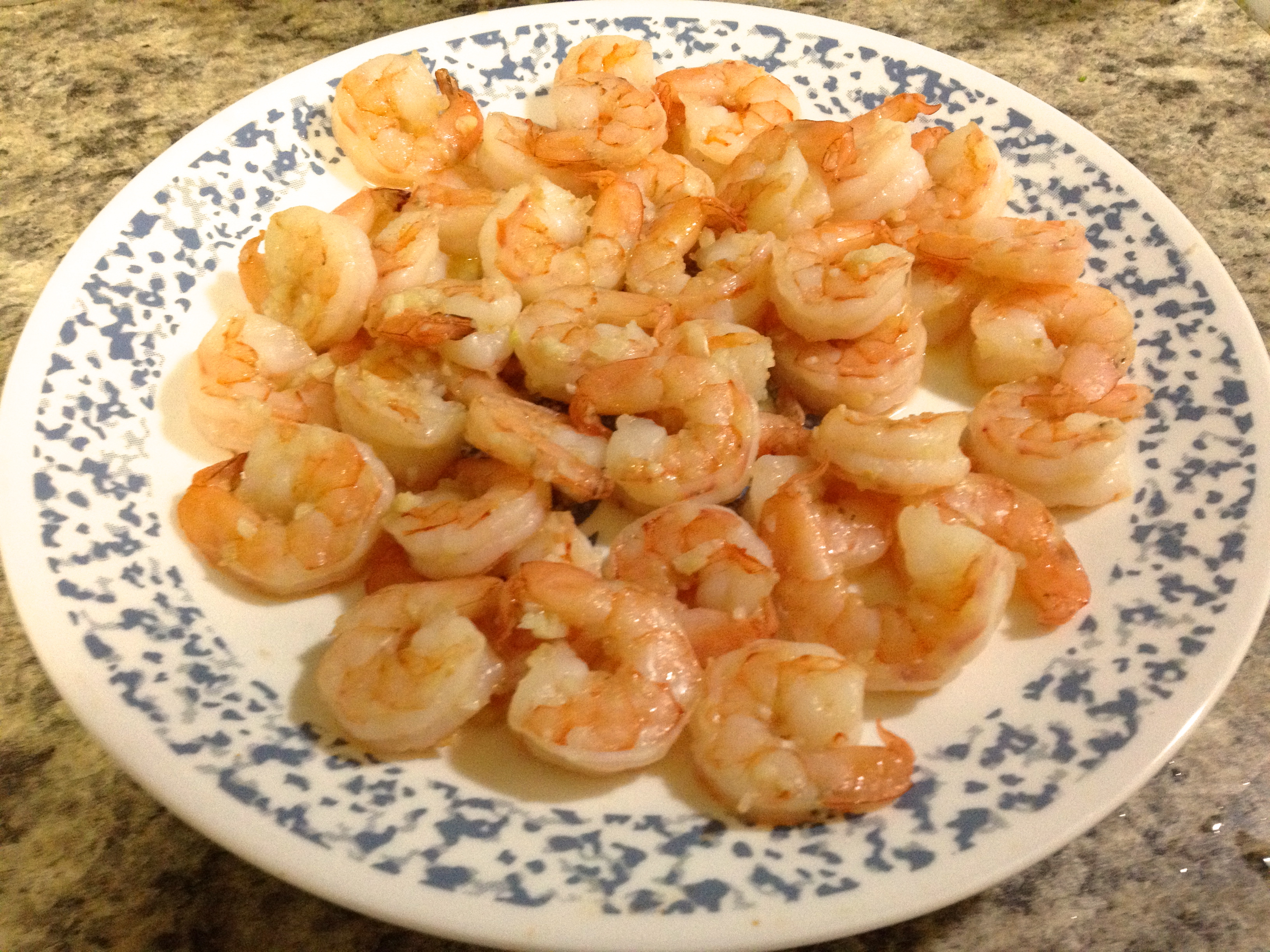how to cook frozen shrimps in a pan