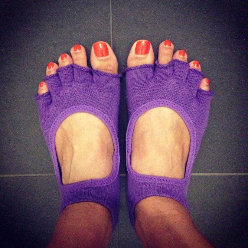 My first pair of Half Toe Bella Toe Tox.